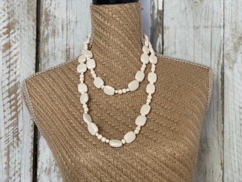 White Sand Long Necklace