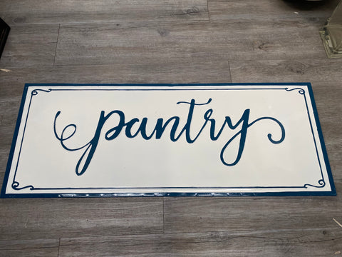 Classic NAVY with white Enamel Sign