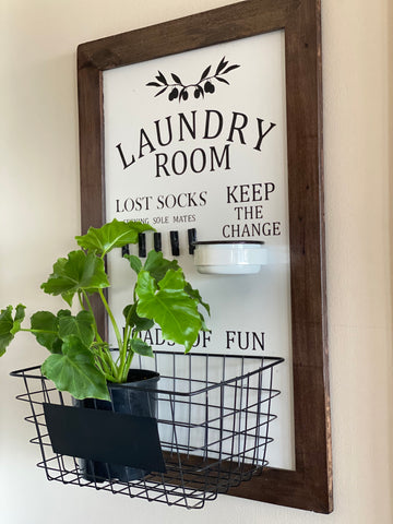 "XL Handmade ""Lost Socks"" LAUNDRY ROOM Sign"