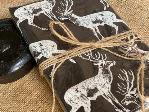 Handmade Fabric Covered Deer Stag Journal