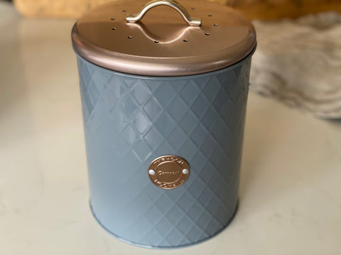 Rose Gold Compost Bucket