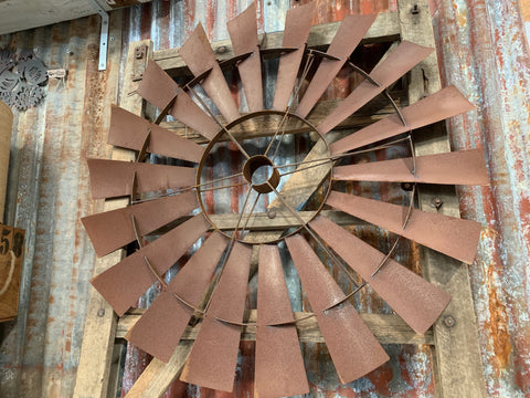 Large Rusty Windmill Wall Art