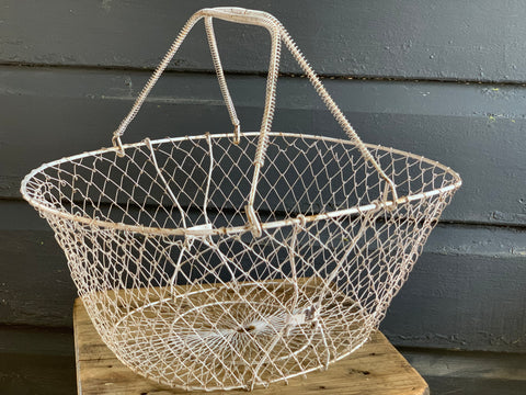 FRENCH Vintage Flat Basket