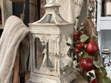 Distressed Glass Tin Lantern IN STORE PICK UP