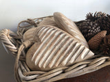 XL Timber and JUTE Ribbed Heart