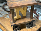 Industrial Side Lamp Table