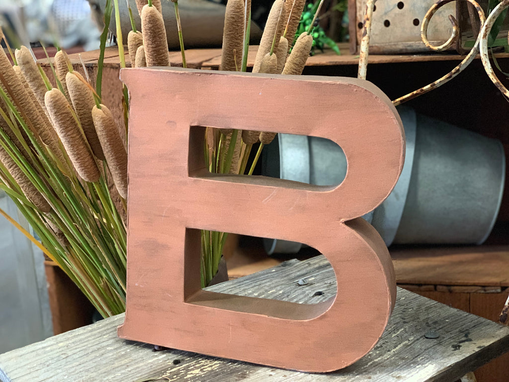 Tin Industrial Letter B