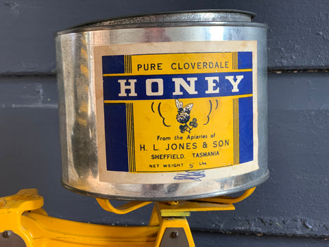 Vintage Sheffield Honey Tin