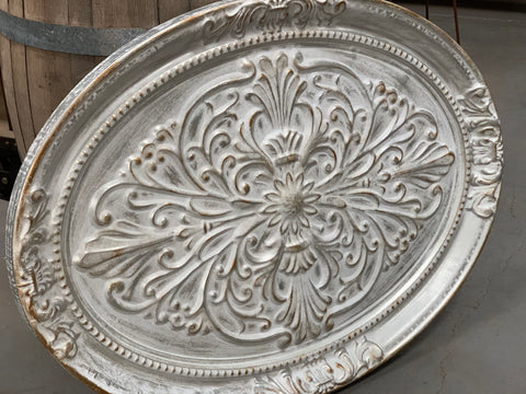 XXL Oval Provincial Tin Wall Art