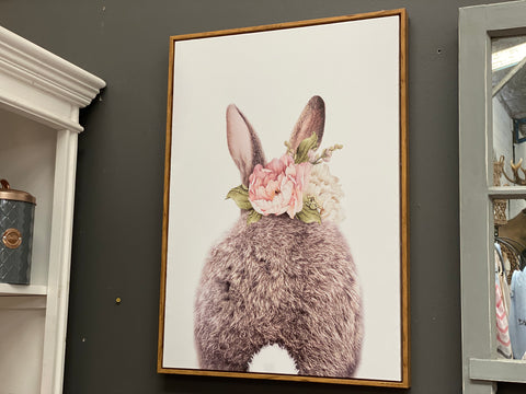 POM POM Bunny Framed Canvas
