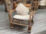 XL Antique RATTAN Sitting Chair