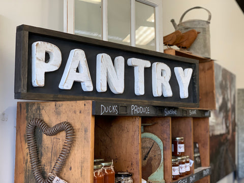 Handmade PANTRY Sign