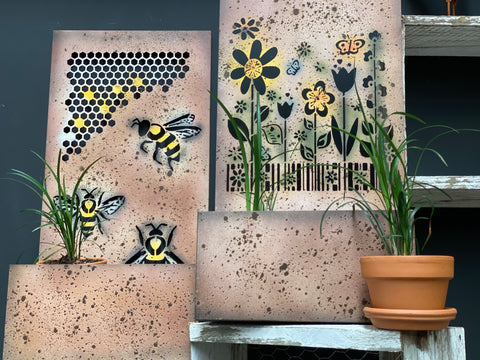 Flowers Wall Art Planter
