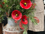 Poppies Set of 3 Stems FREE Postage