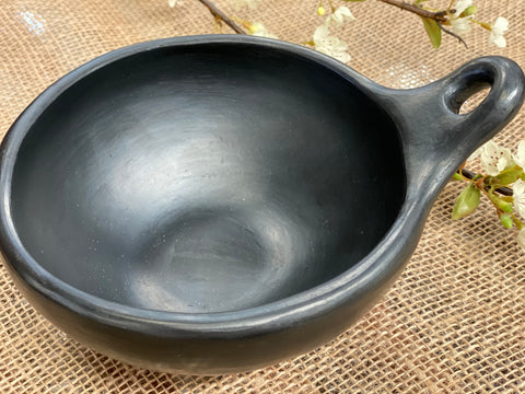UNIQUE handmade black pottery Bowl