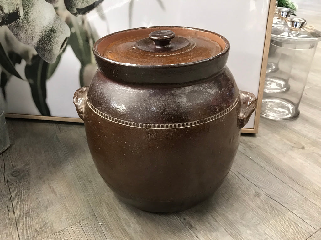 XL Bendigo Pottery POT with Lid