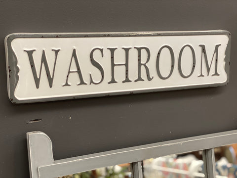 Enamel WASHROOM Sign FREE Postage