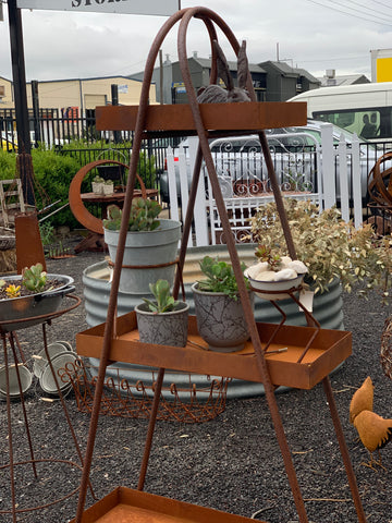 Rusty Plant Stand