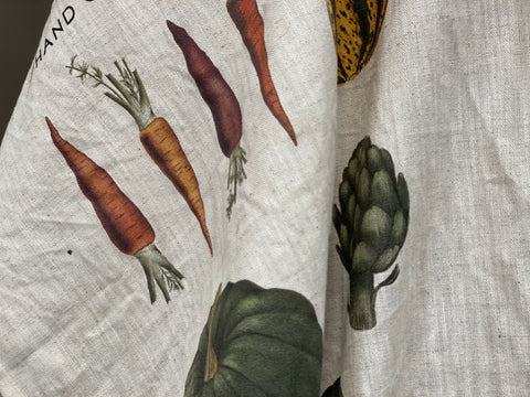 New FARMHOUSE VEGETABLES Tea Towel