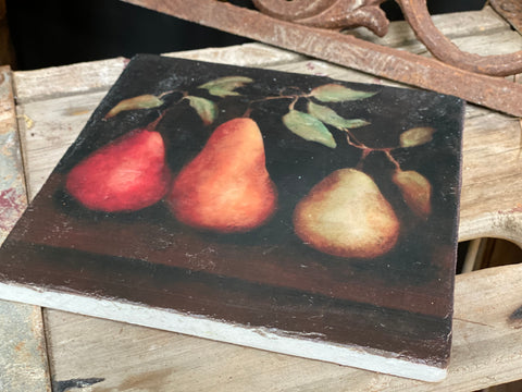 Large French Pear Trivet