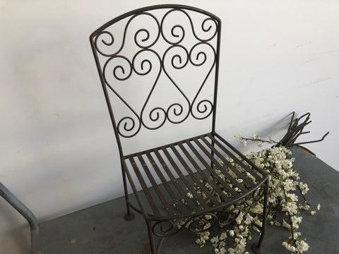 Ornate Vintage Metal Children's Chair