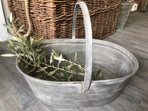 Zinc Carry Basket