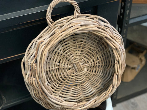 Rattan Wall Basket Planter