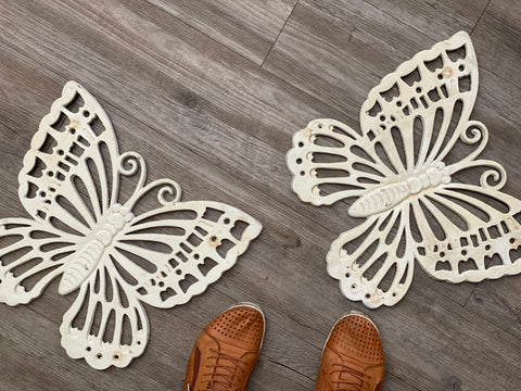 XL CAST Iron Butterfly WALL Decor - Stepping Stones