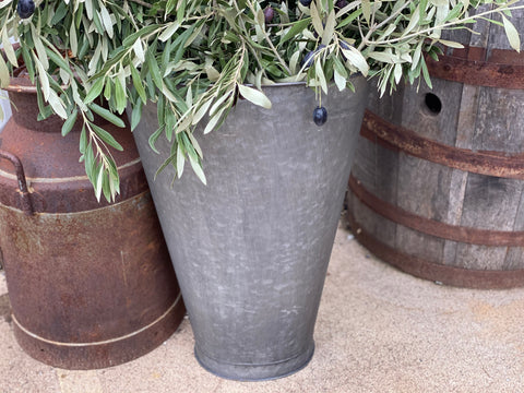 JUMBO Galvanised Wall Planter