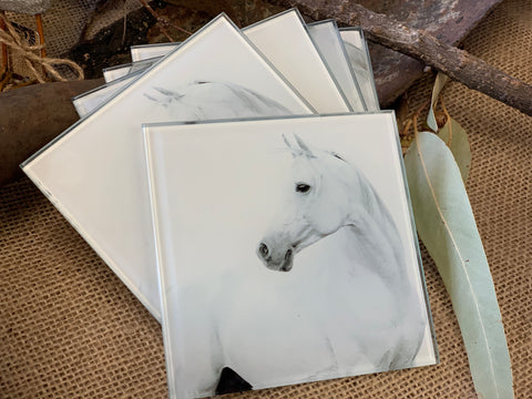 Hayley Horse Glass Coaster Set of 6