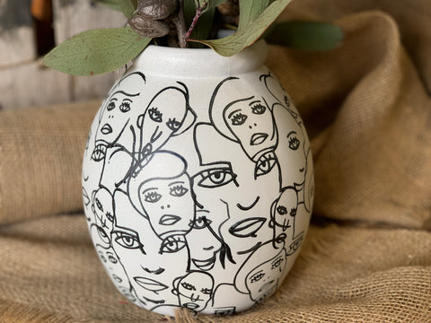 Planter Face VASE Pot