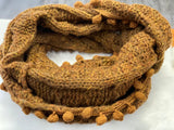 Camel POM Knit Snood