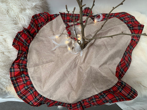 Gingham Christmas Tree Skirt