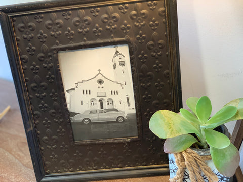 Pressed Metal Charcoal Photo Frame