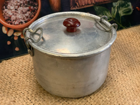 Vintage Small Aluminium Pudding Tin