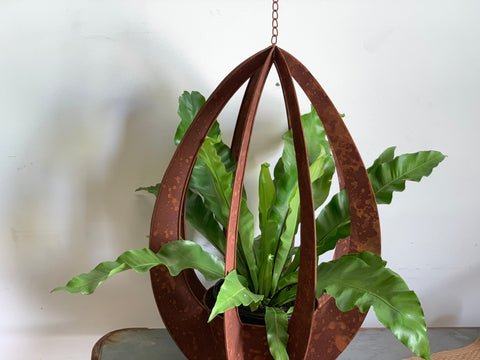 XL Hanging Rusty Sculpture Planter