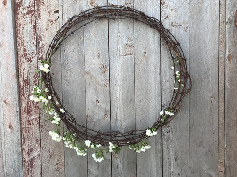 Rusty Wire Handmade Wreath
