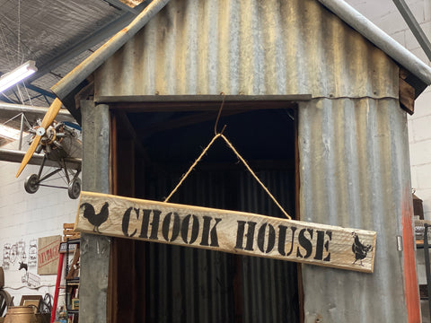 Handmade RUstic UPCYCLED CHOOK HOUSE Sign