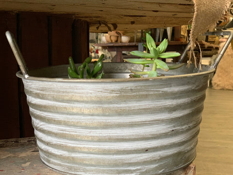 ZINC Ripple Planter Tub