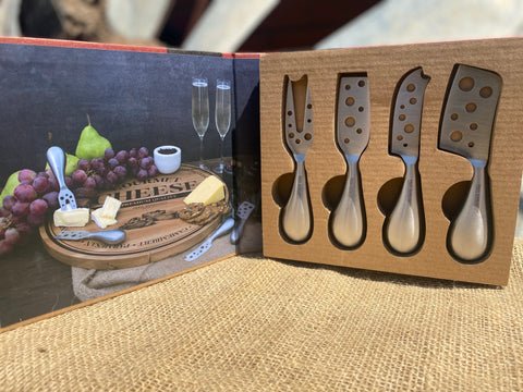 Set of 4 Cheese Knifes GIFT Pack FREE Postage