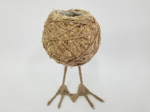 Small Standing Natural Kokadame with Feet