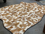 Mixed Tan Patch Cowhide Rug