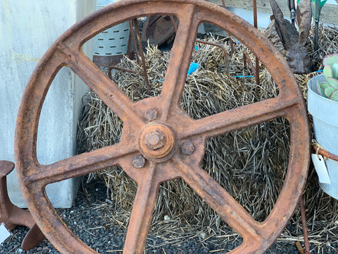 VINTAGE Cast Iron Wheel