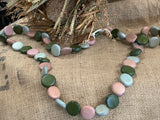 Long Mixed Olive Necklace