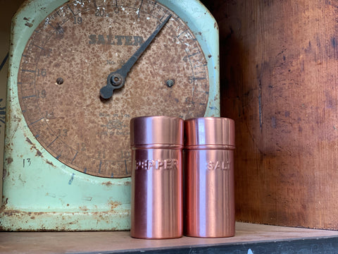 Copper Salt and Pepper Shaker