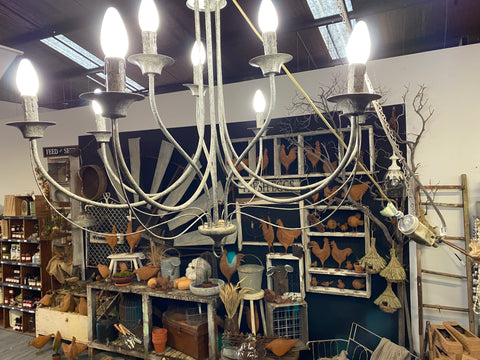 French Grey Chandelier IN STORE NOW