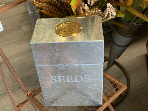 Galvanised SEEDS Tin