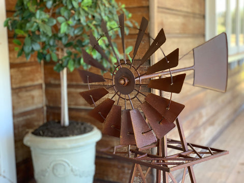 1.2 Garden RUSTY Windmill - Pre-Order for Early Nov