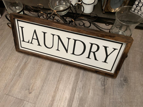 XL LAUNDRY handmade Sign