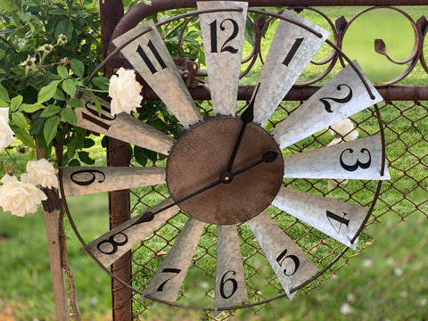 Farmhouse WINDMILL Clock  LOW STOCK